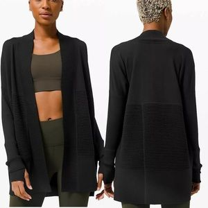 Lululemon Sit In Lotus Wrap II Merino Wool Black
